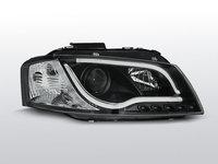 Faruri Audi A3 8P model LED TUBE Negru