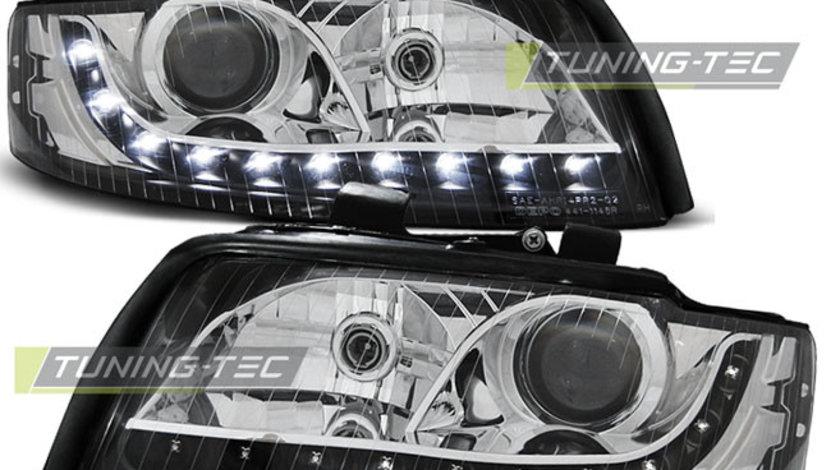 Faruri Audi A4 2000-2004 Daylight Negru