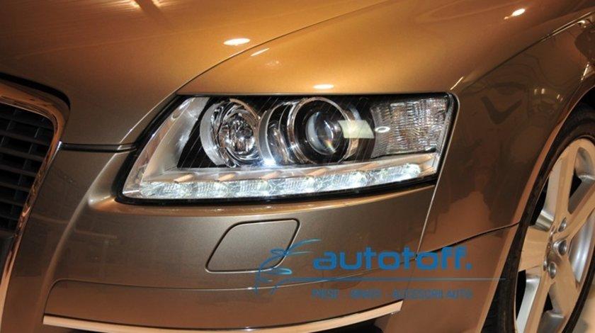 Faruri Audi A6 4F C6 cu LED lumini de zi