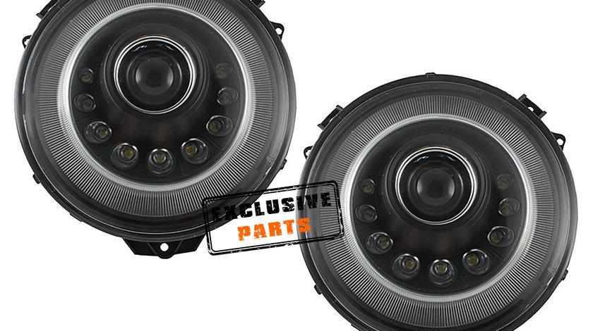 Faruri Bi-Xenon LED Mercedes Benz W463 G-Class (05-17) Mansory Design Black