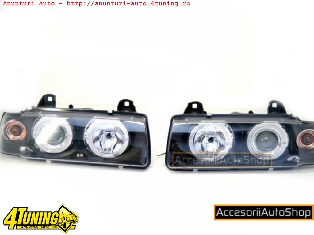Faruri BMW E36 cu Angel eyes si semnalizare 550 LEI
