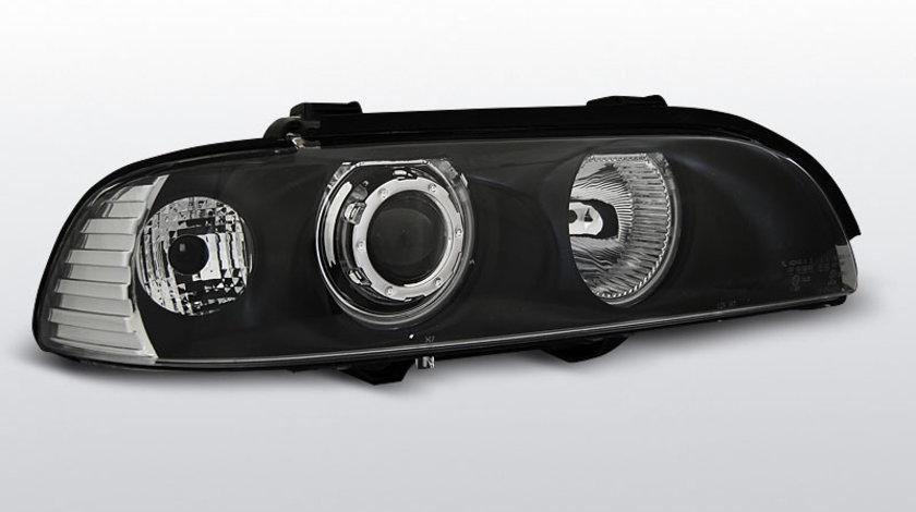 Faruri BMW E39 1995-2003 Angel eyes CCFL Negru