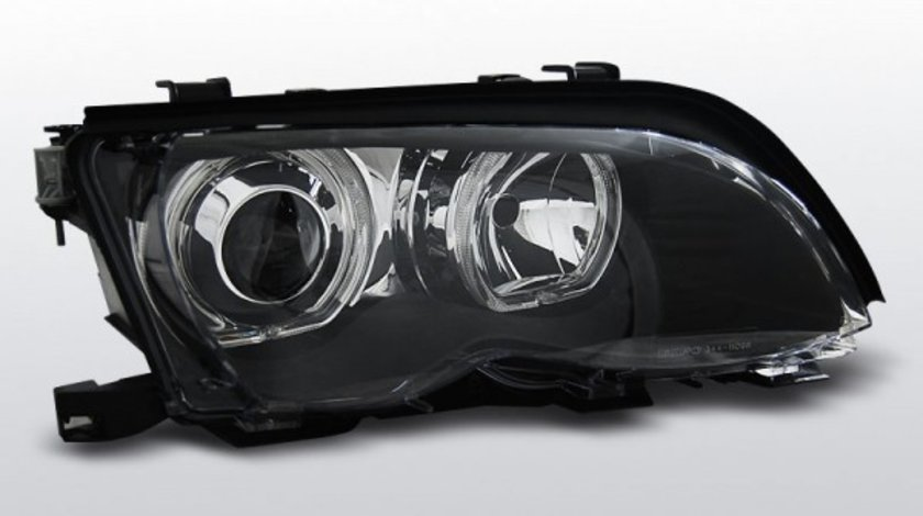 FARURI BMW E46 AN 2001-2005 ANGEL EYES LED NEGRU