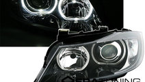 Faruri BMW E90/E91 Seria 3 2005-2008 Angel Eyes Ne...
