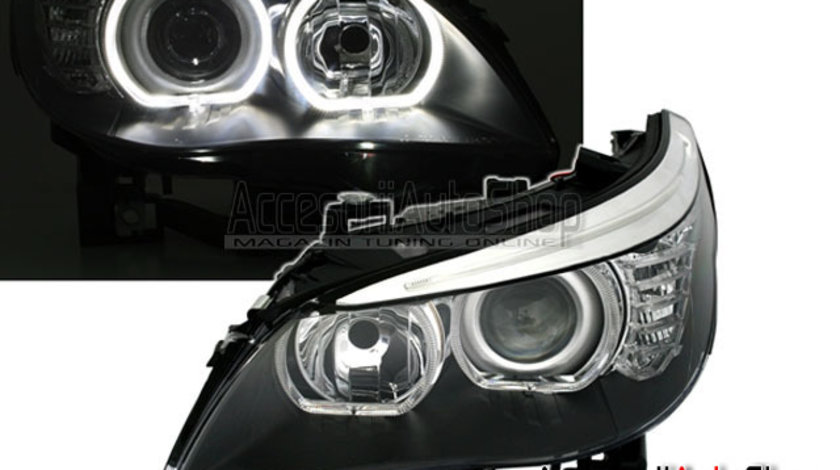 Faruri BMW Seria 5 E60 E61 DTM ANGEL EYES ALB 2003-2011