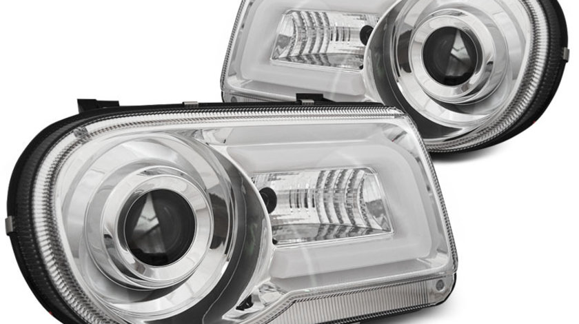 Faruri Chrysler 300C 2005-2010 Cromat Tube Light