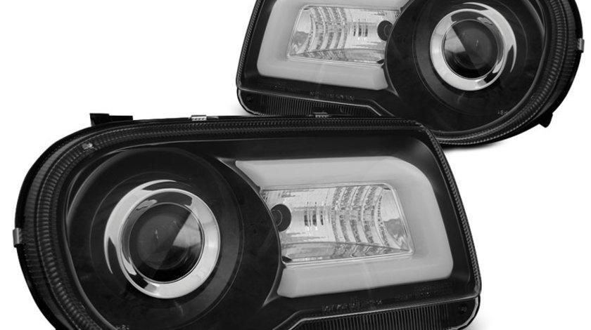 Faruri Chrysler 300C 2005-2010 Negru Tube Light
