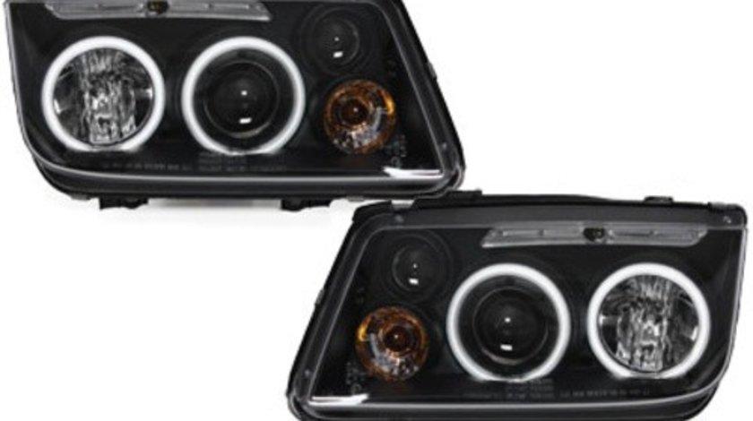 Faruri compatibil cu VW Bora 98-05_2 CCFL Angel Eyes Negru