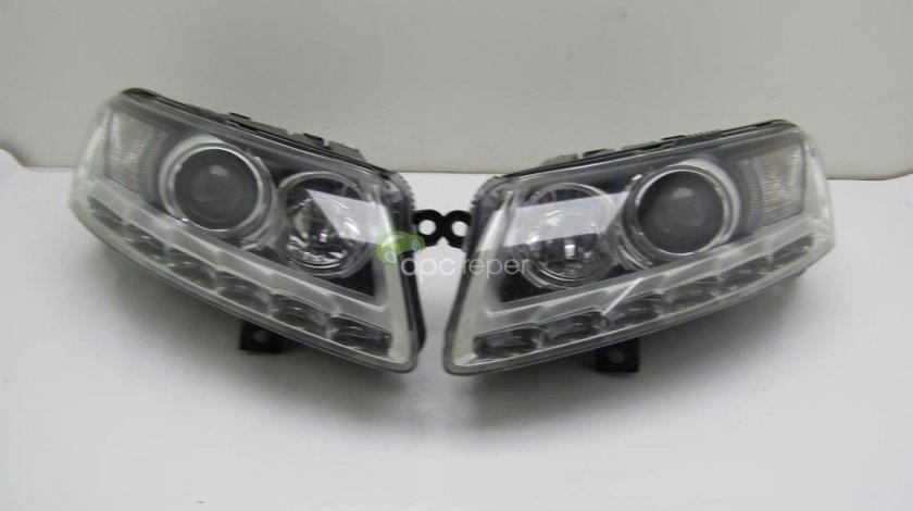 Faruri complete Audi A6 4F facelift Originale 4F0941003CP - 4F0941004CP