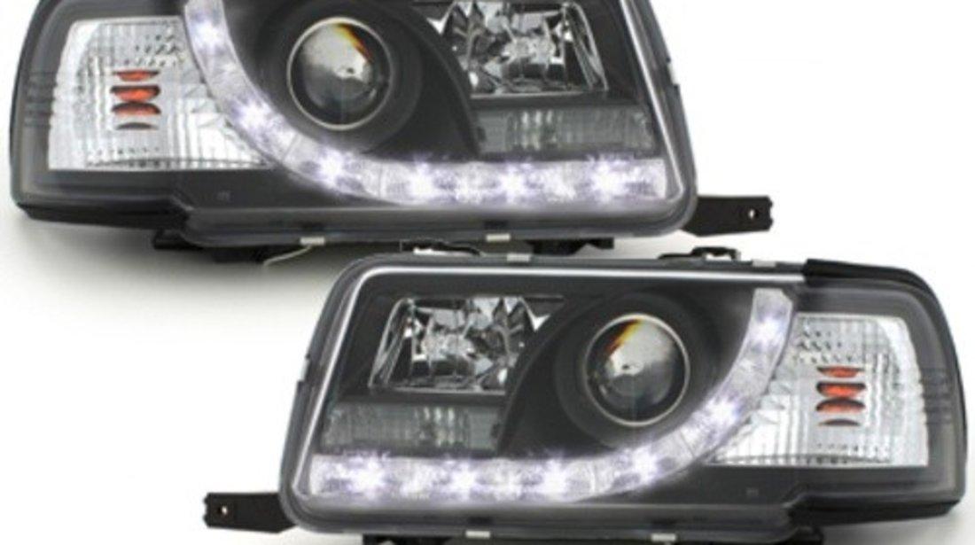 Faruri DAYLINE compatibil cu AUDI 80 B4 Limousine /Avant (1991-1994) LED DRL Look Negru