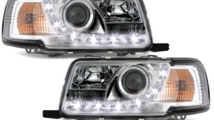Faruri DAYLINE compatibil cu AUDI 80 B4 Limousine /Avant (1991-1994) LED DRL Look Crom
