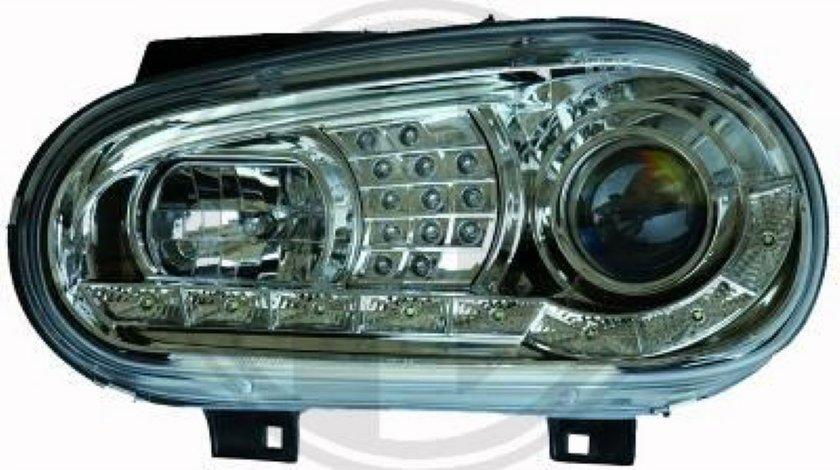 FARURI DAYLINE DAYLIGHT PENTRU VW GOLF 4 FUNDAL CROM SAU NEGRU SEMNALIZARE CU LED