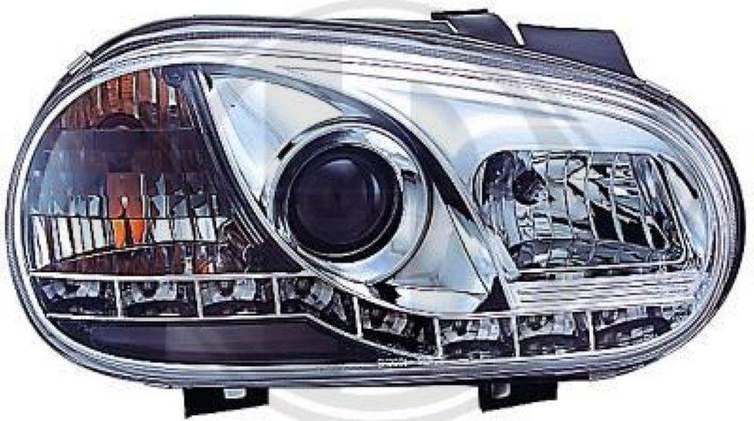 FARURI DAYLINE DAYLIGHT PENTRU VW GOLF 4 FUNDAL CROM SAU NEGRU