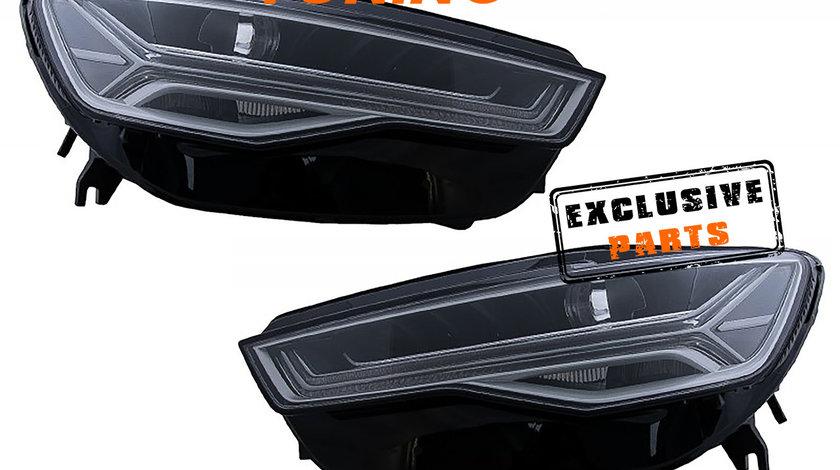 Faruri Full LED A6 4G C7 (11-18) Facelift Matrix Design Semnalizare Dinamica Secventiala