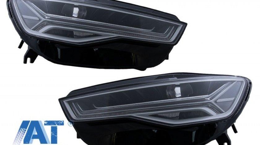 Faruri Full LED compatibil cu Audi A6 4G C7 (2011-2018) Facelift Matrix Design Semnalizare Dinamica Secventiala