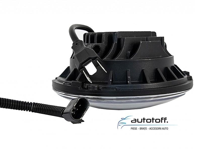 Faruri Full LED Cree Black Jeep Wrangler, Land Rover Defender, Mercedes W463