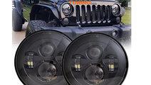 Faruri Full LED CREE Black Jeep Wrangler/ Land Rov...