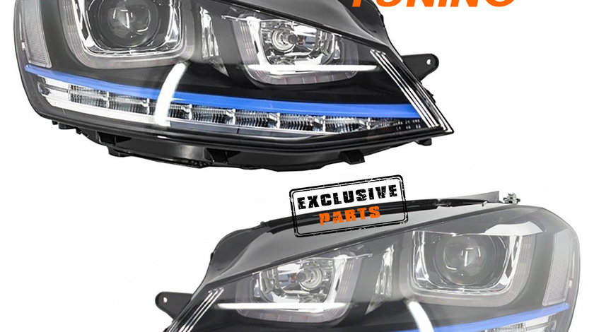 Faruri LED 3D VW Golf 7 (12-17) GTE Design