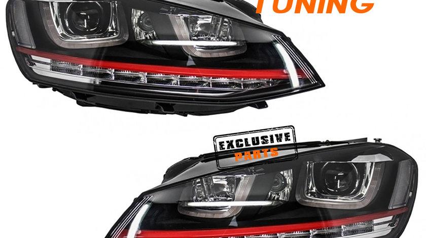 Faruri LED 3D VW Golf 7 (12-17) GTI Design