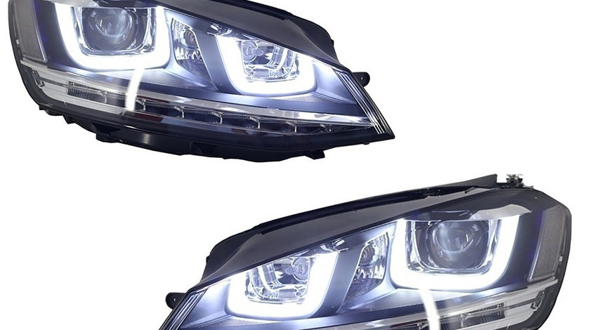 Faruri LED 3D VW Golf 7 (12-17) R-Line Design