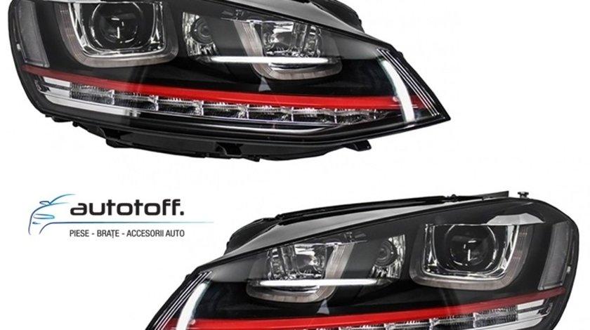Faruri LED 3D VW Golf 7 (2012-2017) GTI Design