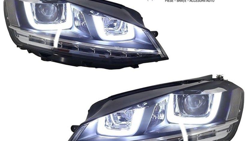 Faruri LED 3D VW Golf 7 (2012-2017) R-Line Design