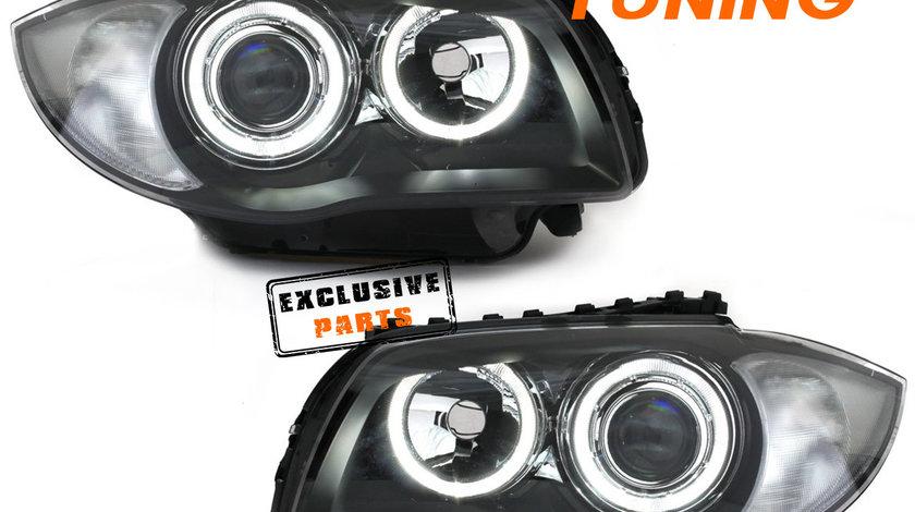 Faruri LED Angel Eyes BMW Seria 1 E87/ E81/ E82/ E88 (04-12)