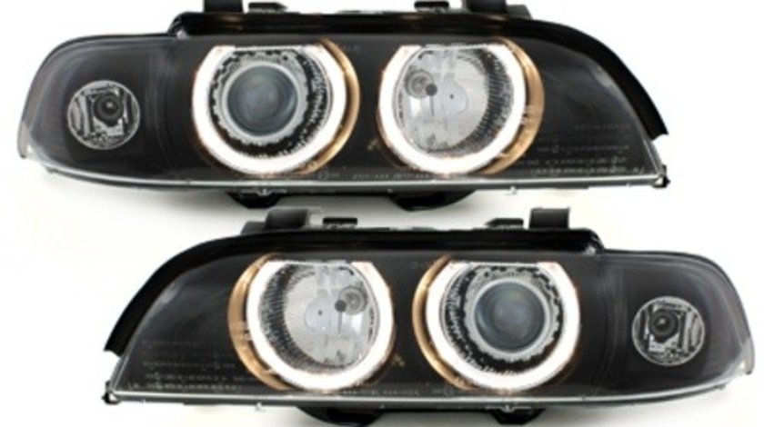 Faruri LED Angel Eyes compatibil cu BMW Seria 5 (1995-2003) Xenon Look
