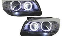 Faruri LED Angel Eyes compatibil cu BMW X1 E84 (09...