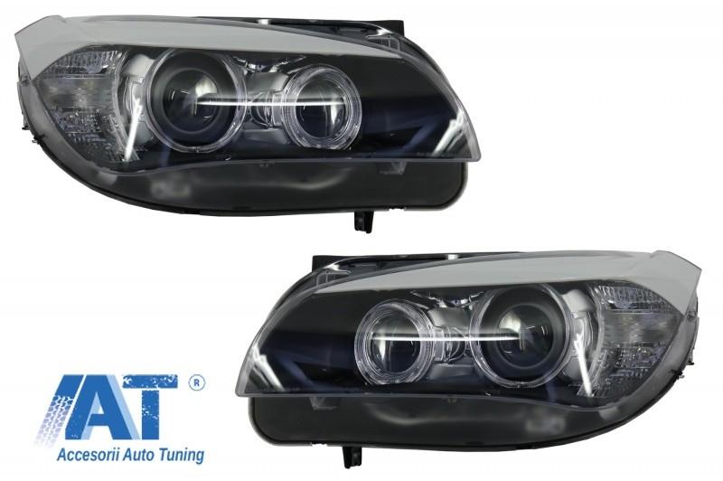 Faruri LED Angel Eyes compatibil cu BMW X1 E84 (2009-2013) Xenon Look