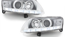 Faruri LED AUDI A6 4F 04-09 crom Facelift LOOK