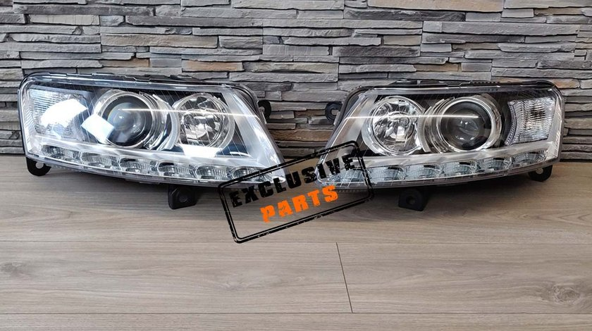 Faruri LED Audi A6 C6 4F (04-08) Xenon