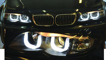 Faruri LED BMW E46 Seria 3 Dragon Light Type U Bla...