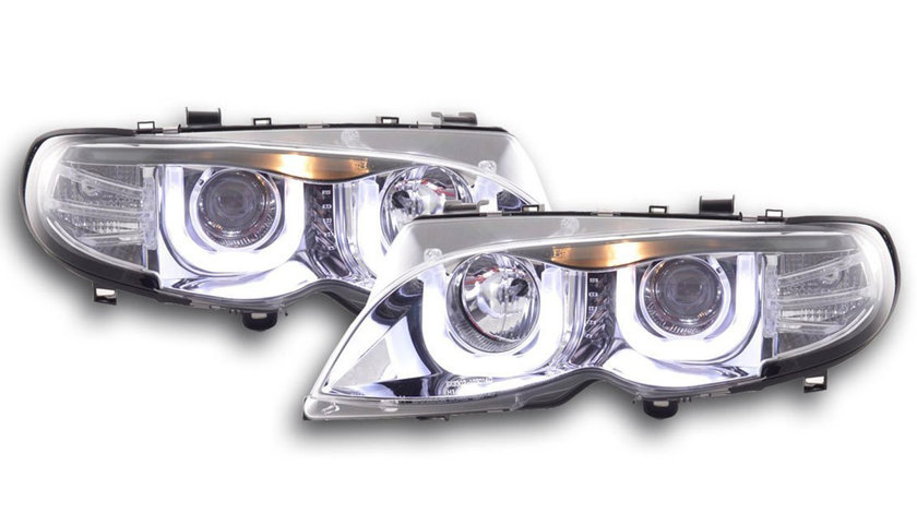 Faruri LED BMW E46 Seria 3 Dragon Light Type U Crom Design