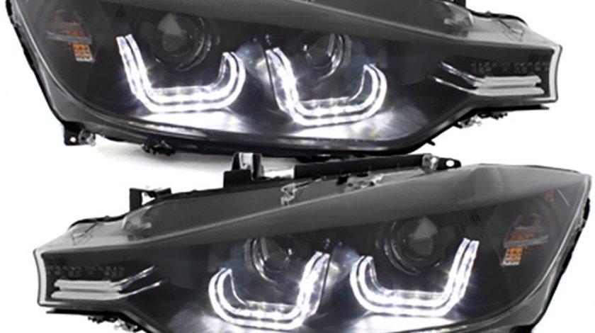 Faruri LED BMW Seria 3 F30/F31 (2011-2014) Black Xenon Look