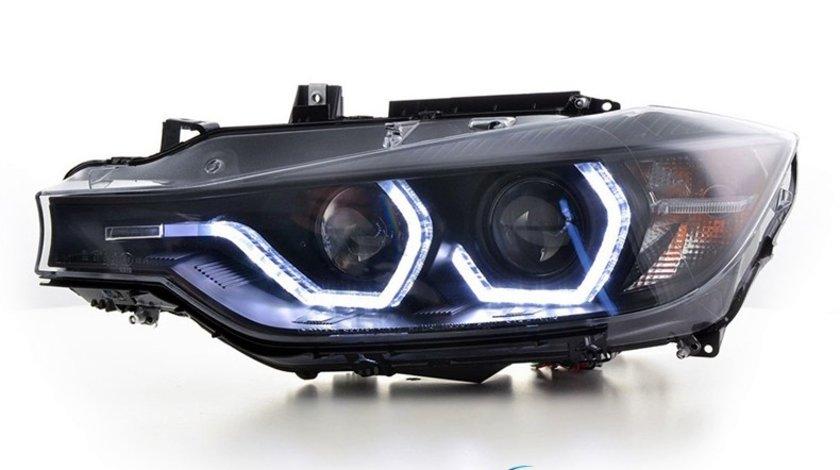 Faruri LED BMW Seria 3 F30/F31 (2011-2014) Black