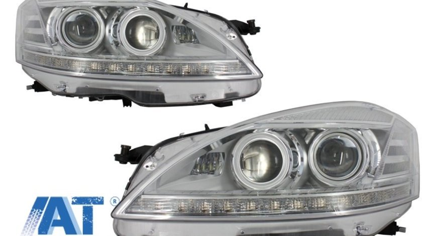 Faruri LED compatibil cu MERCEDES W221 S-Class (2005-2009) Facelift Look