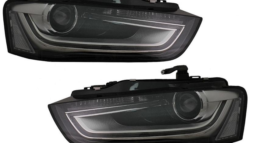 Faruri LED DRL Audi A4 B8.5 (12-15) Negru
