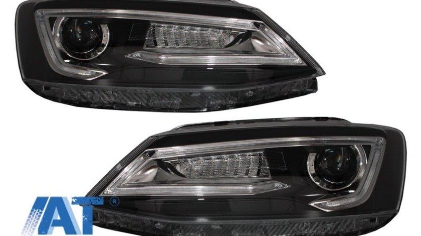 Faruri LED DRL compatibil cu VW Jetta Mk6 VI Non GLI (2011-2017) Semnal Dinamic Secvential Demon Bi-Xenon Design