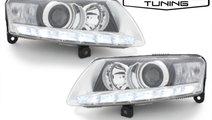 Faruri LED DRL Xenon AUDI A6 C6 4F 04-09 facelift ...