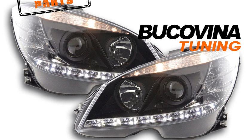 Faruri LED Mercedes Benz C-Class W204 (07-10) Daylight Black