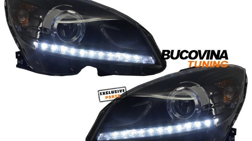 Faruri LED Mercedes Benz C-Class W204 (07-11)