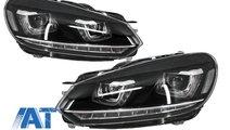 Faruri LED RHD compatibil cu VW Golf 6 VI (2008-up...