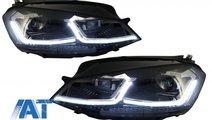 Faruri LED RHD compatibil cu VW Golf 7 VII (2012-2...