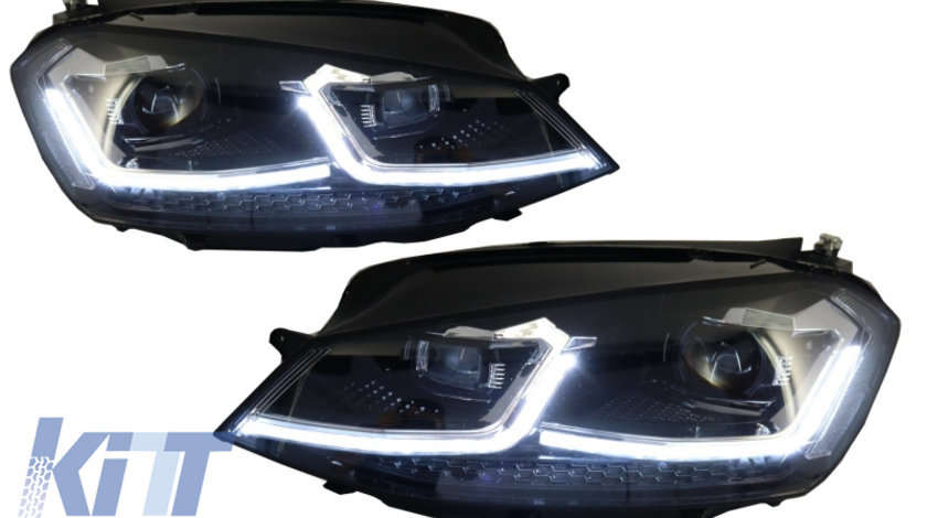 Faruri LED RHD VW Golf 7 VII (2012-2017) Facelift G7.5 R Line Look cu Semnal Dinamic KTX2-HLVWG7FSRHD