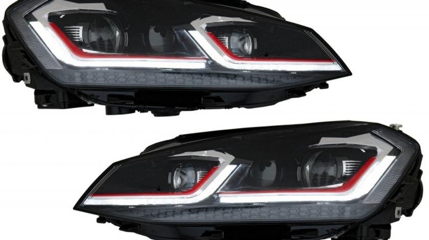 Faruri LED RHD VW Golf 7 VII (2012-2017) Facelift G7.5 GTI Look cu Semnal Dinamic KTX2-HLVWG7FRRHD