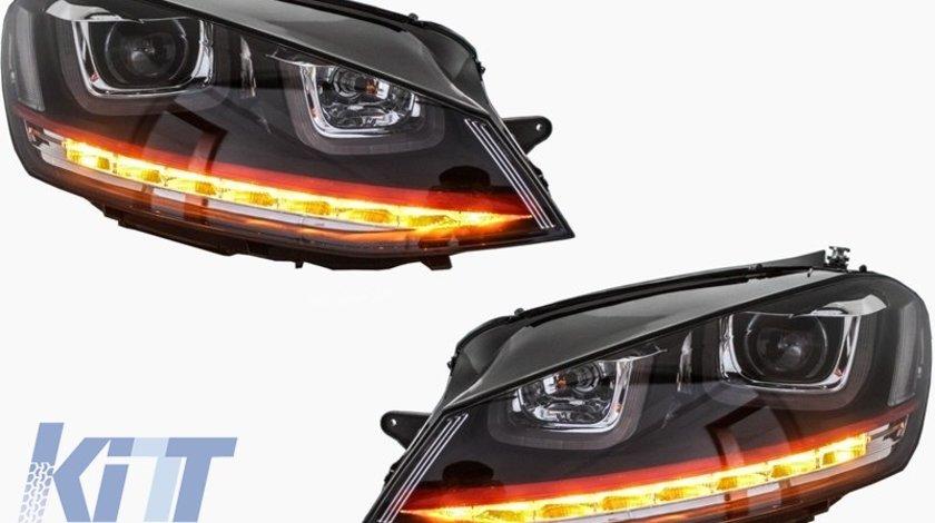Faruri LED Volkswagen Golf 7 2012-up R20 GTI Design Semnal LED