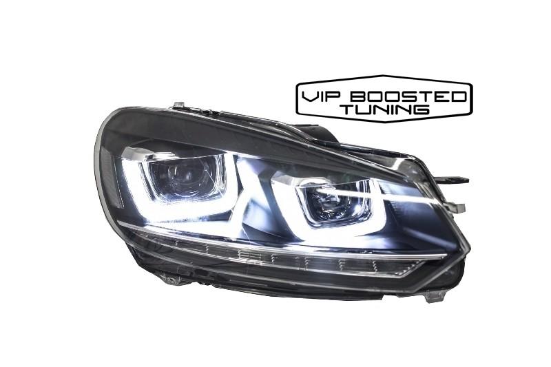 Faruri LED VW Golf 6 VI  Golf 7 design 3D U Design Semnal LED Dinamic secvential