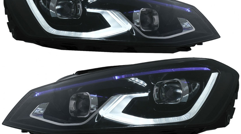 Faruri LED VW Golf 7 VII (2012-2017) conversie Golf 8 Look