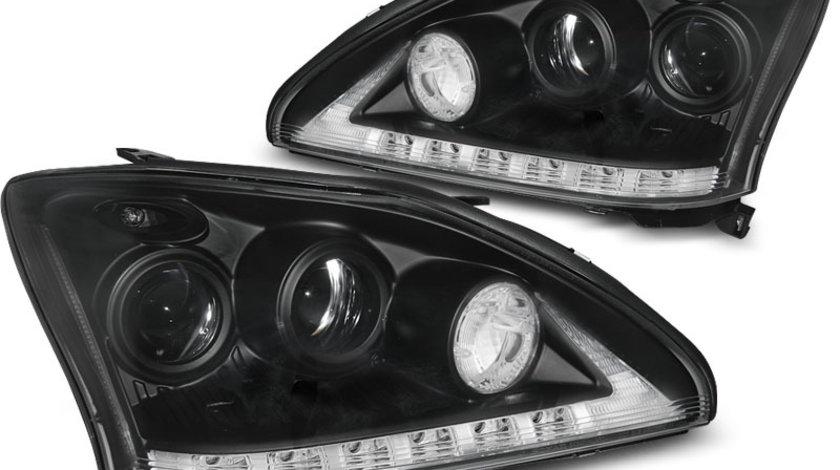 Faruri Lexus 330 / 350 200-2008 Tube Light Negru